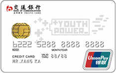 交通银行Y-POWER信用卡白卡(银联, 人民币,普卡)