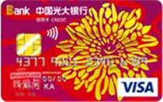 光大阳光信用卡(VISA,美元,普卡)