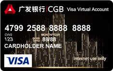 广发环球悦购卡(visa,美元,金卡)
